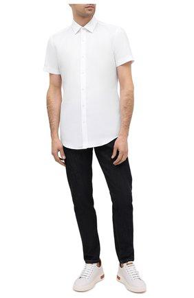 Мужская хлопковая рубашка BOSS белого цвета, арт. 50433054 | Фото 2