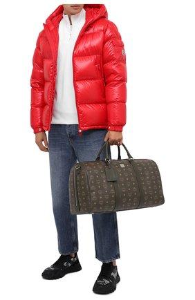 Мужская дорожная сумка MCM хаки цвета, арт. MMV AAVY02 | Фото 2