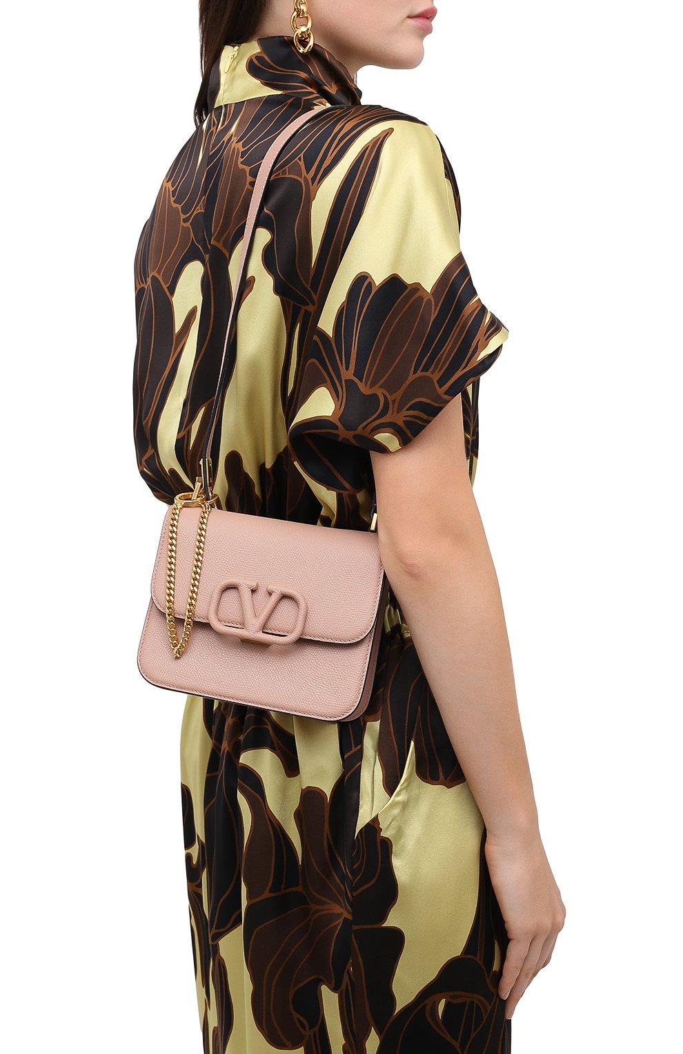 Женская сумка valentino garavani vsling VALENTINO бежевого цвета, арт. UW2B0F01/RQR   Фото 2