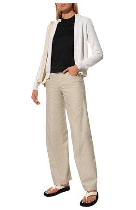 Женская хлопковая футболка LORO PIANA темно-синего цвета, арт. FAL2559 | Фото 2