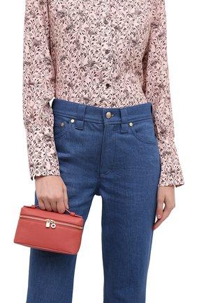 Женская поясная сумка extra pocket l16 LORO PIANA кораллового цвета, арт. FAI8396 | Фото 2