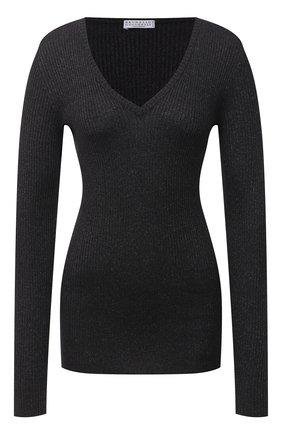 Женский пуловер BRUNELLO CUCINELLI темно-серого цвета, арт. M41822902 | Фото 1