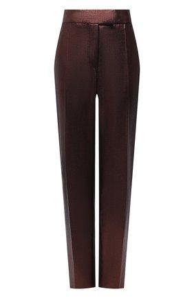 Женские шерстяные брюки TOM FORD темно-коричневого цвета, арт. PAW328-FAX647   Фото 1