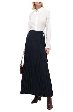Женская юбка в складку CHLOÉ темно-синего цвета, арт. CHC20AJU47137   Фото 2