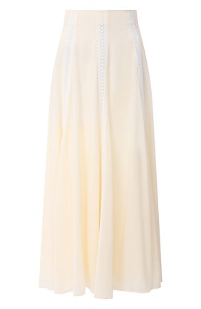 Женская шелковая юбка CHLOÉ белого цвета, арт. CHC20AJU59002 | Фото 1