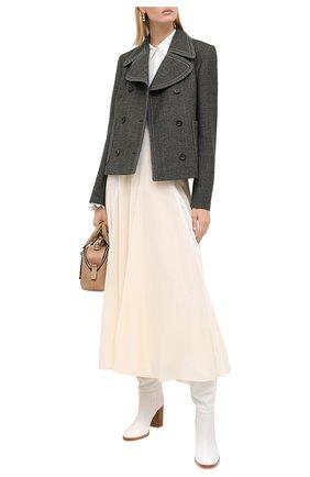 Женская шелковая юбка CHLOÉ белого цвета, арт. CHC20AJU59002 | Фото 2
