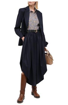 Женский шерстяной жакет CHLOÉ темно-синего цвета, арт. CHC20AVE12161 | Фото 2