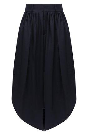 Женские шерстяные брюки CHLOÉ темно-синего цвета, арт. CHC20APA23161   Фото 1