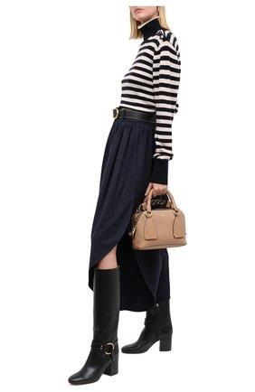 Женские кожаные сапоги demi CHLOÉ черного цвета, арт. CHC20A361L4 | Фото 2