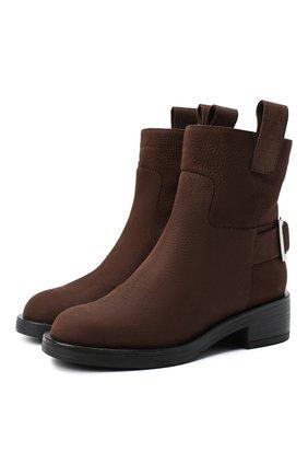 Женские кожаные ботинки SERGIO ROSSI коричневого цвета, арт. A91870-MMVR19 | Фото 1