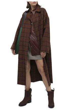Женские кожаные ботинки SERGIO ROSSI коричневого цвета, арт. A91870-MMVR19 | Фото 2