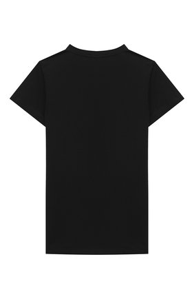 Детская хлопковая футболка BALMAIN черного цвета, арт. 6N8061/NC610/4-10 | Фото 2