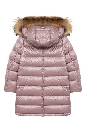 Детское пуховое пальто HERNO розового цвета, арт. PI0088G/12017/10A-14A | Фото 2