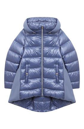 Детского пуховая куртка HERNO голубого цвета, арт. PI0103G/39601/4A-8A   Фото 1