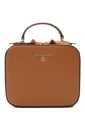Женская сумка jet set charm small MICHAEL MICHAEL KORS коричневого цвета, арт. 32T0GT9C2L   Фото 1 (Ремень/цепочка: На ремешке; Материал: Натуральная кожа; Размер: small; Сумки-технические: Сумки top-handle, Сумки через плечо)