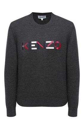 Женский шерстяной пуловер KENZO темно-серого цвета, арт. FA62PU5413LA | Фото 1