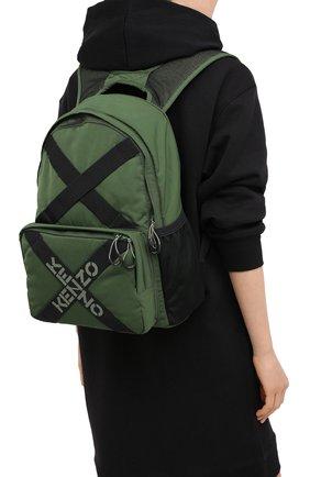 Женский рюкзак active kenzo sport KENZO хаки цвета, арт. FA65SA213F21 | Фото 2