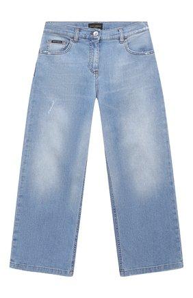 Детские джинсы DOLCE & GABBANA голубого цвета, арт. L51F67/LD786/8-14 | Фото 1
