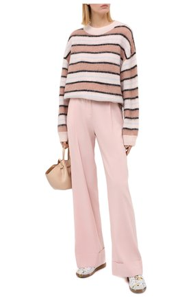 Женские брюки из льна и вискозы RAG&BONE светло-розового цвета, арт. WAW20P7013NH13 | Фото 2