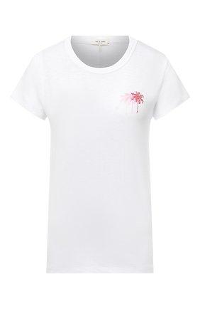 Женская хлопковая футболка RAG&BONE белого цвета, арт. WCC20PT085CH85 | Фото 1