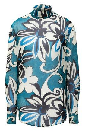 Женская блузка DRIES VAN NOTEN бирюзового цвета, арт. 202-30782-1062   Фото 1