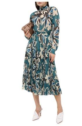 Женская блузка DRIES VAN NOTEN бирюзового цвета, арт. 202-30782-1062   Фото 2