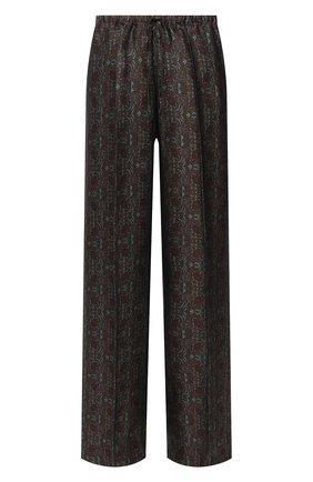 Женские брюки из вискозы и шелка DRIES VAN NOTEN зеленого цвета, арт. 202-30985-1331 | Фото 1