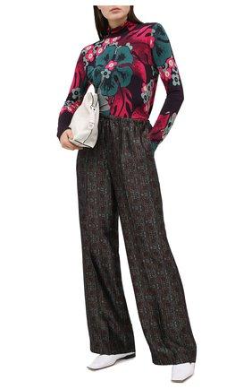 Женские брюки из вискозы и шелка DRIES VAN NOTEN зеленого цвета, арт. 202-30985-1331 | Фото 2