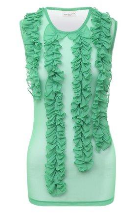 Женский топ DRIES VAN NOTEN зеленого цвета, арт. 202-31130-1202 | Фото 1