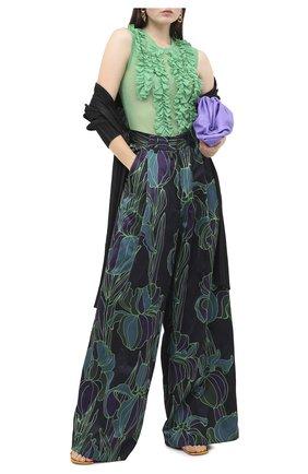 Женский топ DRIES VAN NOTEN зеленого цвета, арт. 202-31130-1202 | Фото 2