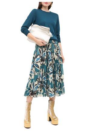 Женский шерстяной пуловер DRIES VAN NOTEN зеленого цвета, арт. 202-31293-1700 | Фото 2