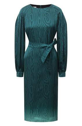 Женское платье из вискозы DRIES VAN NOTEN бирюзового цвета, арт. 202-38645-1158 | Фото 1