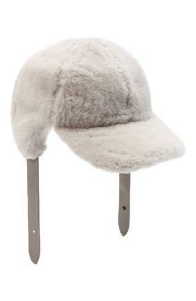 Женская меховая кепка LORENA ANTONIAZZI светло-серого цвета, арт. A2089CE003/421 | Фото 1