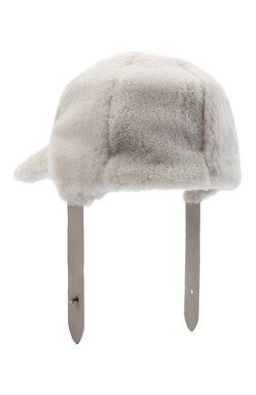 Женская меховая кепка LORENA ANTONIAZZI светло-серого цвета, арт. A2089CE003/421 | Фото 2