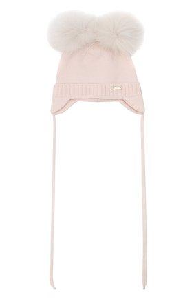 Детского шерстяная шапка IL TRENINO светло-розового цвета, арт. 20 4014/E0 | Фото 1