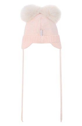Детского шерстяная шапка IL TRENINO светло-розового цвета, арт. 20 4014/E0 | Фото 2