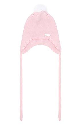 Детского шапка из шерсти и кашемира IL TRENINO светло-розового цвета, арт. 20 8160/E0 | Фото 1