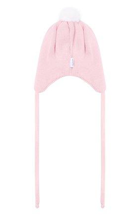 Детского шапка из шерсти и кашемира IL TRENINO светло-розового цвета, арт. 20 8160/E0 | Фото 2