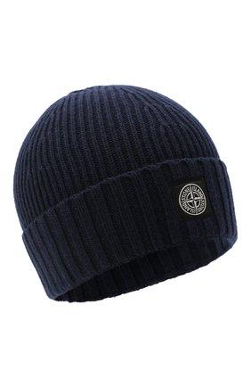 Детского шапка STONE ISLAND синего цвета, арт. 7316N03A8 | Фото 1