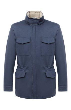 Мужская двусторонняя кашемировая куртка LORO PIANA синего цвета, арт. FAI2088 | Фото 1