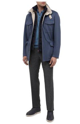 Мужская двусторонняя кашемировая куртка LORO PIANA синего цвета, арт. FAI2088 | Фото 2