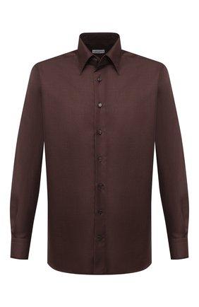 Мужская сорочка из кашемира и шелка ZILLI коричневого цвета, арт. MFU-00503-87060/0001   Фото 1