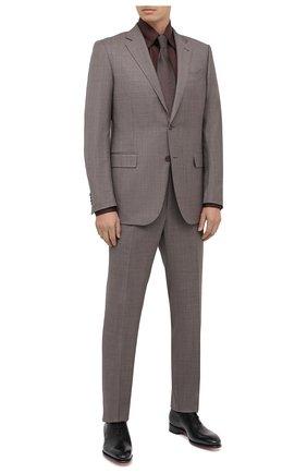 Мужская сорочка из кашемира и шелка ZILLI коричневого цвета, арт. MFU-00503-87060/0001   Фото 2