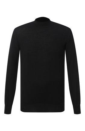 Мужской шерстяная водолазка BRIONI черного цвета, арт. UMU70L/0ZK28 | Фото 1