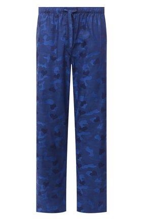 Мужские хлопковые домашние брюки DEREK ROSE темно-синего цвета, арт. 3564-PARI018 | Фото 1