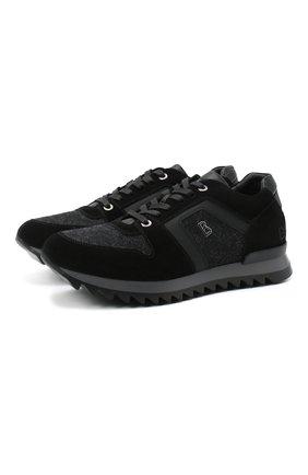 Мужские комбинированные кроссовки BOGNER темно-серого цвета, арт. 103-B851/SEATTLE 9 | Фото 1