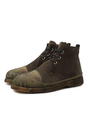 Мужские комбинированные ботинки ROCCO P. хаки цвета, арт. 11300M/SENS0RY | Фото 1
