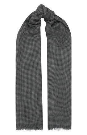 Мужской кашемировый шарф CORNELIANI темно-серого цвета, арт. 86B390-0829022/00 | Фото 1