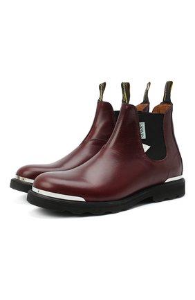 Мужские кожаные челси LANVIN бордового цвета, арт. FM-B0EMET-LUXE-A20 | Фото 1