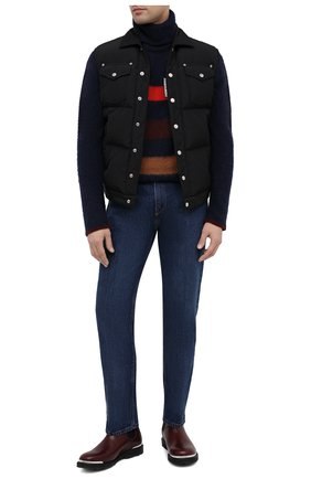 Мужские кожаные челси LANVIN бордового цвета, арт. FM-B0EMET-LUXE-A20 | Фото 2